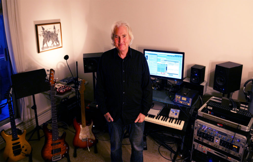 Derek Mason in his Beach Avenue music production studio in Vancouver BC December 11, 2014.